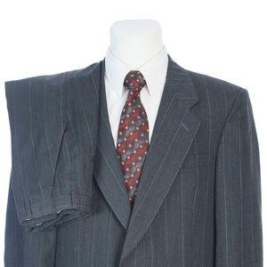 Christian Dior Gray Windowpane Check Wool Suit